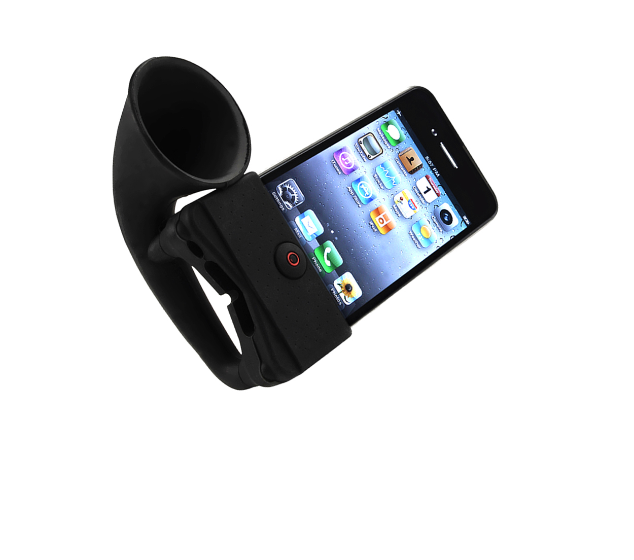 Horn Stand Speaker Loudspeaker Amplifier Silicone for Iphone(HS-1031)