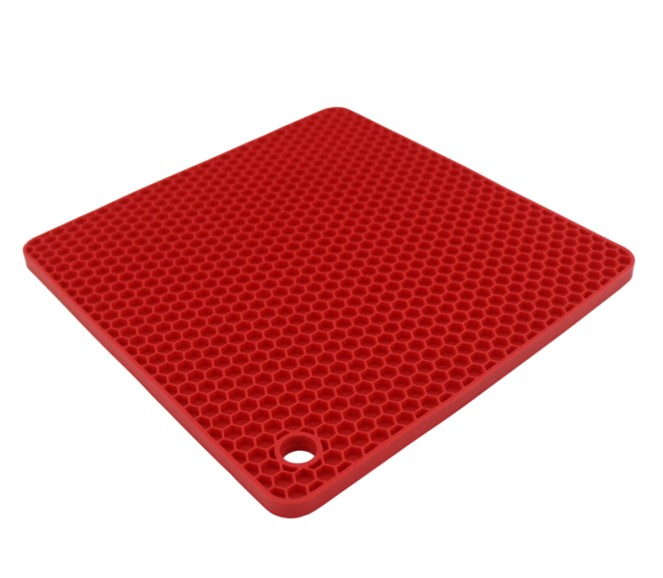 Silicone Honeycomb Pot Holders/ Trivets Pentagon Square Shape(HS-1008)