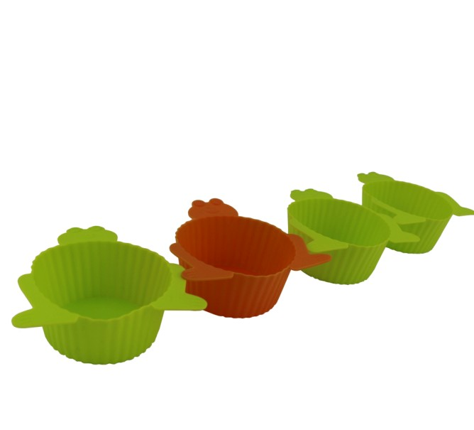 Silicone Muffin Cups Frog Shaped(HS-1066)
