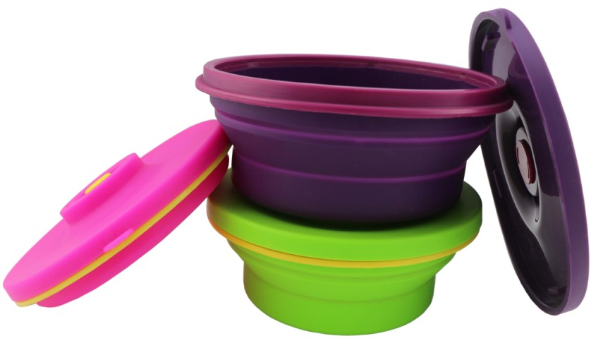 Silicone Round Lunch Box(HS-1090)