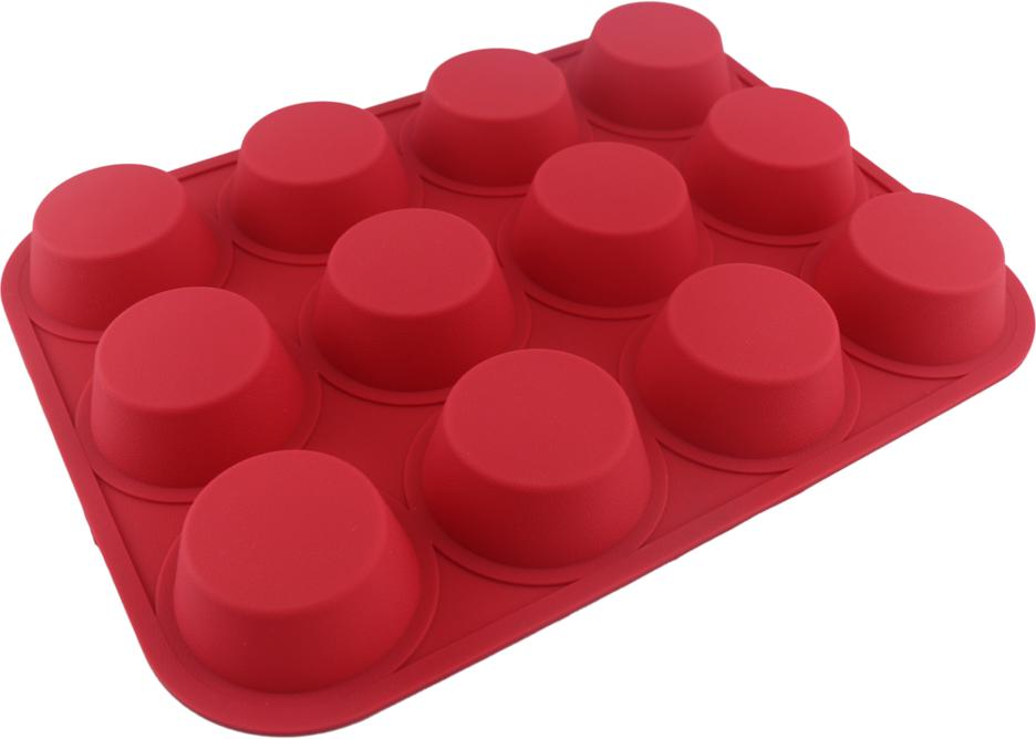 12 Cavity Silicone Baking Pan Cupcake Mold(HS-1030)
