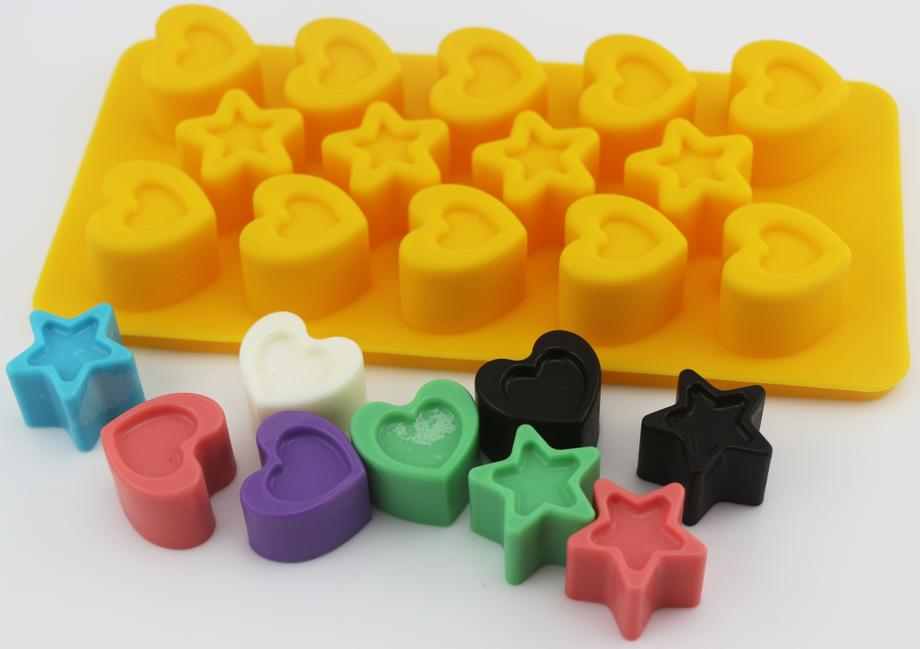 Mini Heart&Star Candy Silicone Mold(HS-1044)