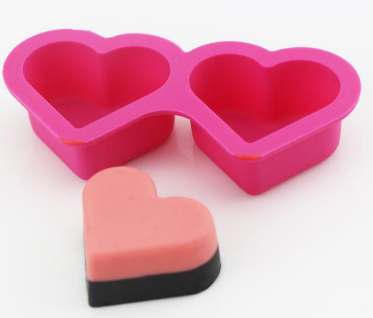 Two Cavity Heart Shaped Candy Chocolate Mold(HS-1142)